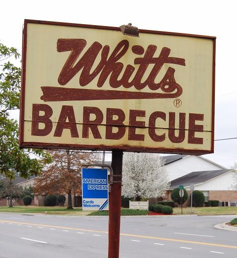 1) Whitt's BBQ