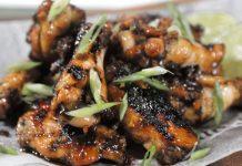 spicy rum chicken wings